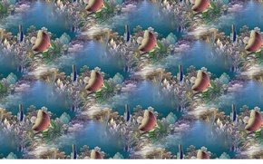 Picture background, the ocean, fish, art