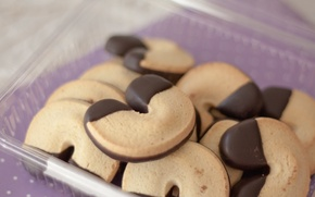 Picture background, widescreen, Wallpaper, food, chocolate, cookies, wallpaper, widescreen, food, background, sweet, chocolate, full screen, HD ...