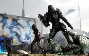 Picture mass effect, collectors, armor, soldiers, bioware, costume