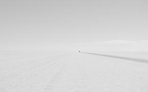 Wallpaper road, machine, minimalism