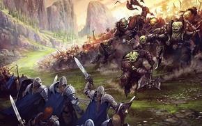Picture battle, orcs, Underworld War Art Fantasy, battle Art