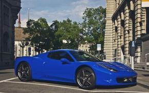 Picture blue, tuning, Ferrari, supercar, Ferrari, 458, Italia, Spider