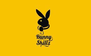 Wallpaper Logo, Yellow, The inscription, Minimalism, Bunny Skillz