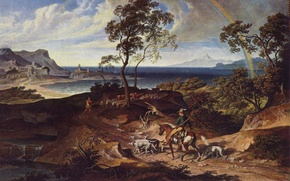 Picture picture, painting, painting, Joseph Anton Koch