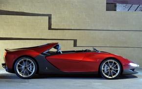 Picture Concept, wall, view, Ferrari, side, Sergio