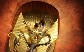 Picture background, mask, Pharaoh, Tutankhamun, Egypt, Ancient, Tutankhamun