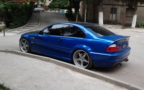 Picture blue, tuning, bmw