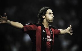 Wallpaper football, milan, Ibrahimovic, Milan, ibrahimovic, sport, clubs