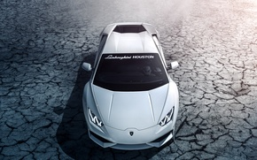 Picture Lamborghini, white, Houston, front, LP 610-4, Huracan, LB724