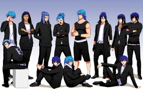 Picture anime, art, guys, bleach, d.gray-man, one piece, fairy tail, hakuouki shinsengumi kitano, grimmjow jeagerjaques, katekyo ...