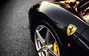 Picture asphalt, icon, wing, black, Ferrari, disk, Ferrari, black, caliper, bus, label
