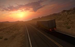 Picture American Truck Simulator, Peterbilt 579, Nevada Desert