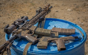 Wallpaper camouflage, machine, optics, semi-automatic, Larue Tactical, rifle, gun, assault