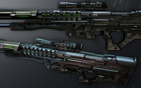 Picture future, technology, Crysis, automatic weapons