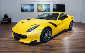 Picture Ferrari, yellow, room, F12, tdf