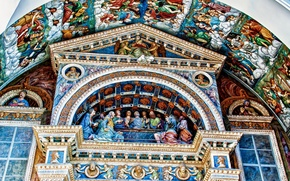 Picture paint, Italy, Cathedral, religion, Aosta, Valle d'aosta
