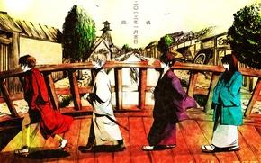 Picture samurai, gin, Gintama, shiroyasha, Sakata, gintoki, white demon, shinske, Katsura, Sakamoto