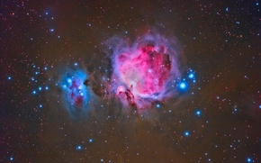 Picture is, Orion, The Orion Nebula, below, Belt
