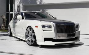 Picture Rolls-Royce, white, Ghost, Vorsteiner, RR04, VSE-004