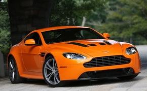 Picture Aston Martin, Vantage, V12, orange