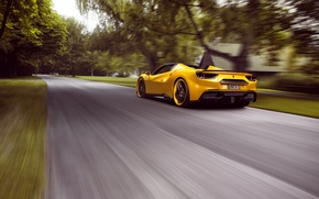 Wallpaper Ferrari, speed, Rosso, supercar, road, Novitec, Ferrari, speed, 488, Spider, road