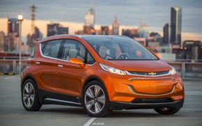 Picture photo, Chevrolet, Orange, Car, 2015, Bolt EV
