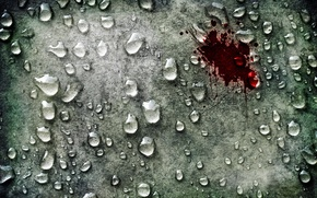 Wallpaper scratches, styling, water, blood, bloody, drops