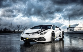 Picture reflection, track, Lamborghini, track, Huracan, Тuning