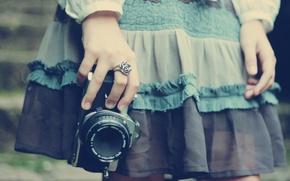 Picture macro, girl, aparat