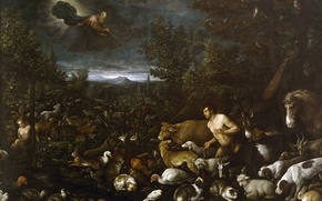 Picture picture, religion, the Bible, mythology, Francesco Bassano, The Fall Of Adam, gurtie