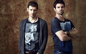 Picture the series, actors, men, Elijah, Joseph Morgan, Klaus, Joseph Morgan, Klaus, Daniel Gillies, Elijah, Original, …
