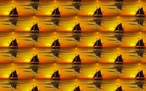 Picture sea, background, sailboat