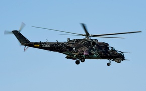 Picture flight, helicopter, Mi-35