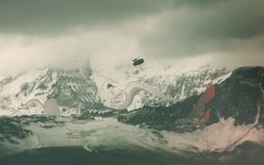 Wallpaper snow, mountains, Treatment