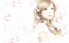 Picture roses, beauty, glamour, Ayumi Hamasaki