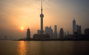 Wallpaper Dawn, China, Shanghai