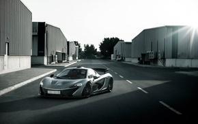 Picture McLaren, Power, Front, Sun, Road, Supercar, Silver, Spoiler