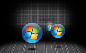 Picture computer, logo, emblem, windows, the volume, operating system, 7. Wallpaper