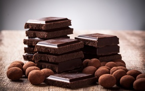 Picture food, chocolate, candy, sweets, dessert, slices, sweet