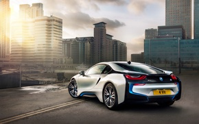 Picture car, city, bmw i8