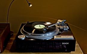 Picture background, vinyl, Denon DP-59L