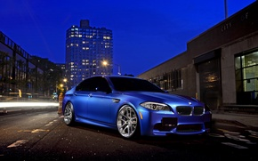 Picture car, night, street, BMW, bmw m5, hq Wallpapers