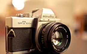 Wallpaper background, camera, Minolta SRT 100b