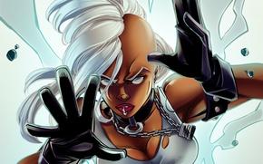 Picture girl, Storm, punk, Marvel Comics, X-men, ororo munroe