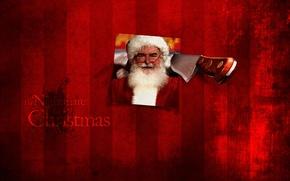 Picture photo, knife, Santa