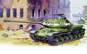 Picture tank, The is-2, heavy, Soviet