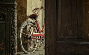 Picture bike, room, the door