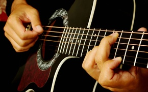 Picture guitar, strings, music, blur, sound, tool, musician, plays, acoustics, Grif, frets, music, bokeh, musical, live, ...