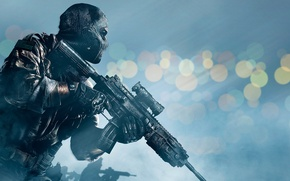 Picture Soldiers, Weapons, Mask, Military, Activision, Infinity Ward, Call of Duty: Ghosts, Call of duty: Ghosts