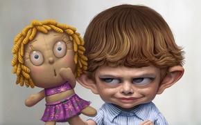 Wallpaper Boy, doll, shame